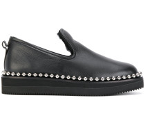 stud trimmed loafers