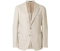 slim-fit button up blazer