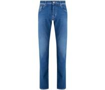Tief sitzende Slim-Fit-Jeans