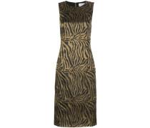 Ärmelloses Kleid mit Tiger-Print