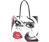 Shopper mit Pop-Art-Print