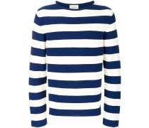 appliqué striped sweater