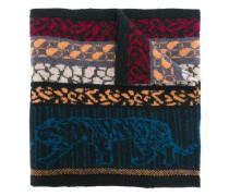 Intarsien-Schal mit Animal-Print