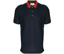 embroidered appliqué polo shirt