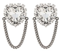 Ohrringe in Herzform mit Kristallen
