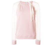 mesh sleeved sweater