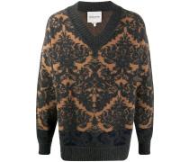 oversized jacquard jumper