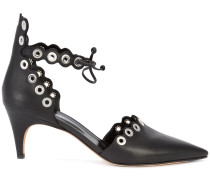 eyelets pointed pumps - women