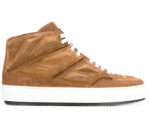 High-Top-Sneakers mit Einsatz