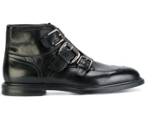 buckled brogue detail boots