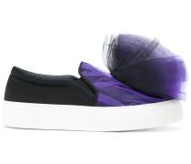 Sneakers mit Tüllbesatz