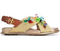 Sandalen mit Applikationen - women