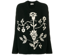 floral crew neck sweater