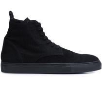Gerippte High-Top-Sneakers