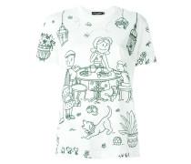 T-Shirt mit Garten-Motiv
