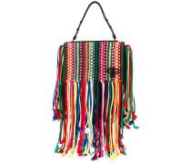 - braided tote bag - women - Baumwolle/Leder