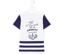 T-Shirt mit Gesichts-Print