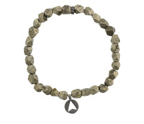 Versilbertes 'Pyrite Stone Insignia Charm' Armband