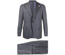 Gestreifter Anzug mit schmalem Schnitt