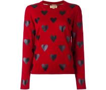 - Pullover mit Herz-Print - women - Merinowolle