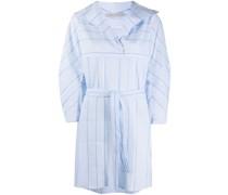Gestreiftes Hemdkleid mit Schnürung