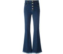 Ausgefranste Bootcut-Jeans