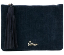 tassel detail clutch bag
