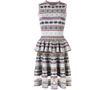 - Jacquard-Kleid mit Schößchen - women