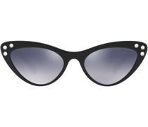 Verzierte Sonnenbrille im Cat-Eye-Design