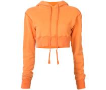 cropped drawstring hoodie