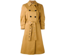 double-breasted midi coat - women