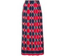 Rhombus print skirt