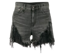 Jeanshorts in Distressed-Optik