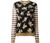 Pullover mit Blumen und Streifen