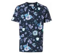 snake butterfly print T-shirt