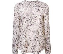 Langärmeliges Bluse mit Blumen-Print