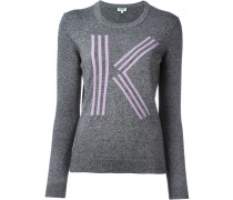 "Intarsien-Sweater mit ""K""-Applikation"