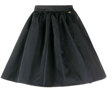 heart-charm pleated mini skirt