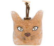 Katzen-Taschenanhänger mit Glitzer-Finish