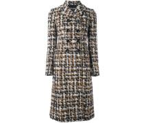 Mittellanger Tweed-Mantel