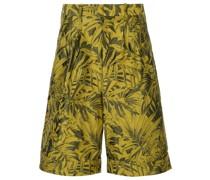 Bermuda-Shorts mit tropischem Print