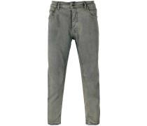 - Schmal zulaufende Cropped-Jeans - men