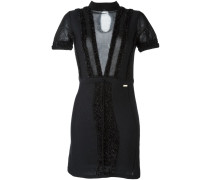 Kleid mit transparentem Einsatz