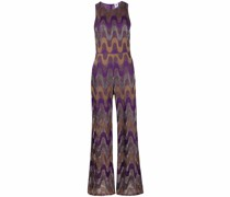 zigzag knitted jumpsuit