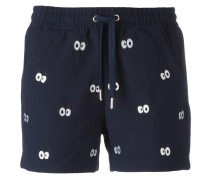 Shorts mit Augen-Patches