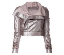Cropped-Jacke mit Oversized-Kragen