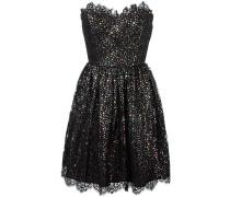 Schulterfreies Kleid mit Metallic-Sternen