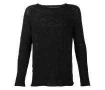 Pullover mit gestreiftem Rücken