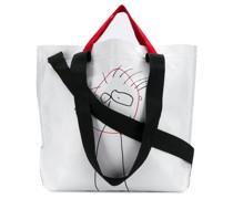 Handtasche mit Kritzel-Print