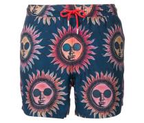 Sun print swimming shorts